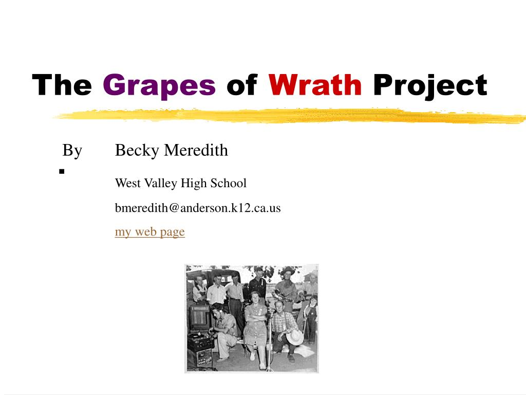 the grapes of wrath project l.