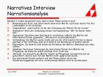 narratives interview narrationsanalyse42