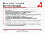 narratives interview narrationsanalyse43