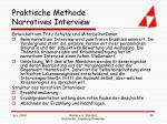 praktische methode narratives interview