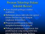 peranan teknologi dalam sekolah bestari