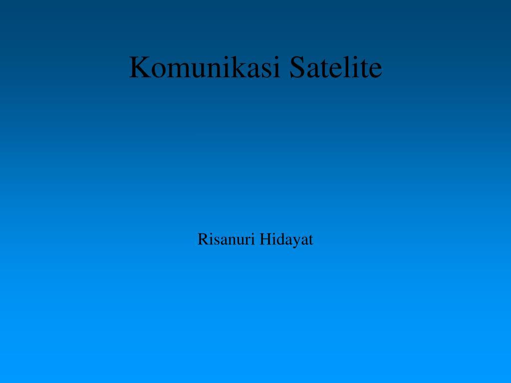 komunikasi satelite l.