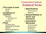 construction contracts technical terms