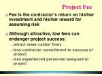 project fee