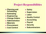 project responsibilities