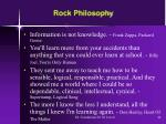 rock philosophy