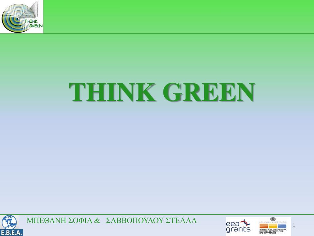 think green l.