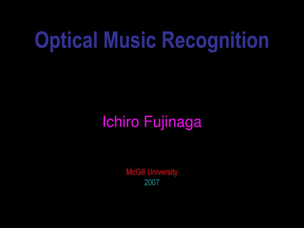 optical music recognition l.