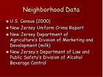 neighborhood data