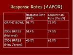 response rates aapor