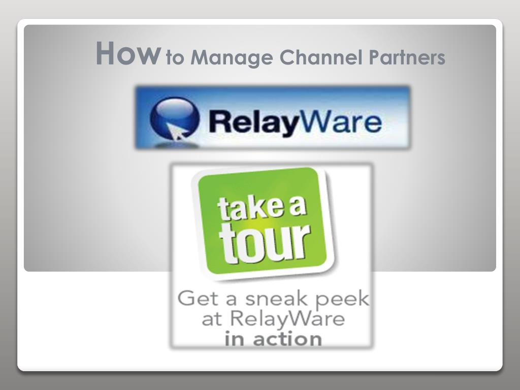 how to manage channel partners l.