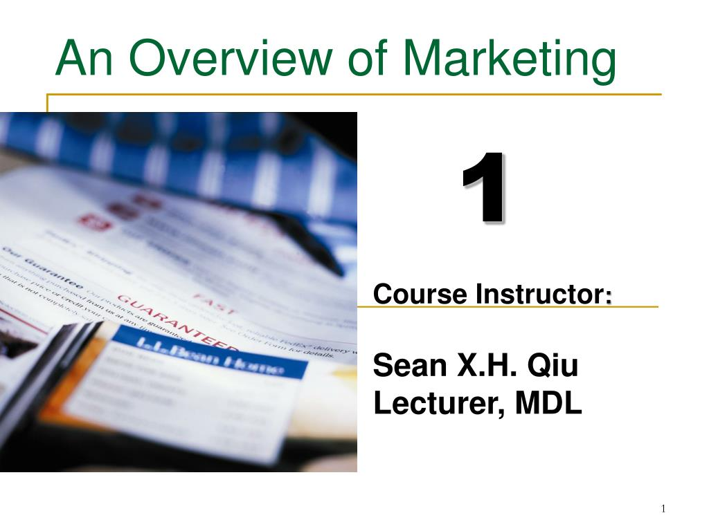 an overview of marketing l.