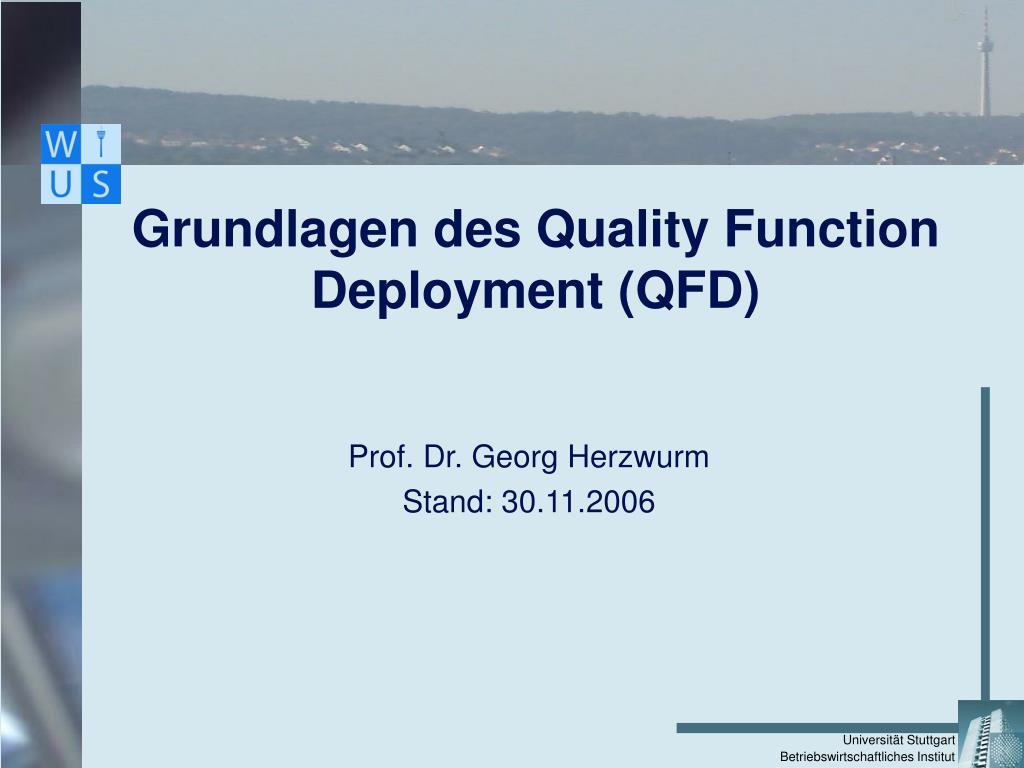 grundlagen des quality function deployment qfd l.