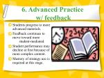 6 advanced practice w feedback