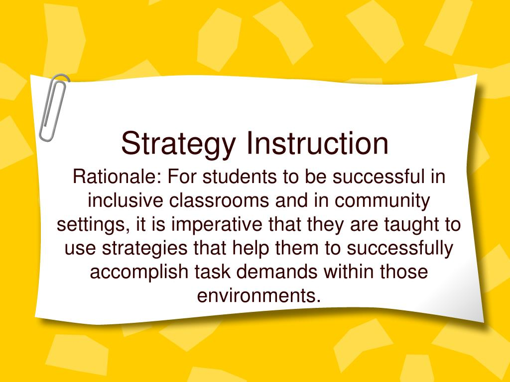 Strategy Instruction