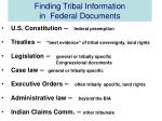 finding tribal information in federal documents