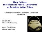 many nations the tribal and federal documents of american indian tribes