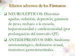 efectos adversos de los f rmacos