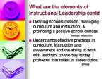 what are the elements of instructional leadership contd13