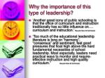 why the importance of this type of leadership9