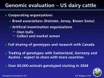 genomic evaluation us dairy cattle