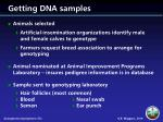getting dna samples