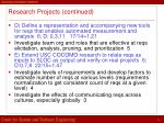research projects continued26