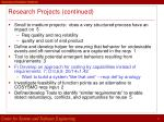 research projects continued27