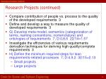 research projects continued28