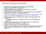 research projects continued29
