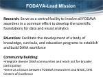fodava lead mission