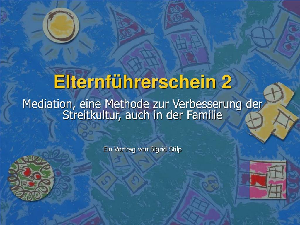 elternf hrerschein 2 l.