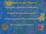mediation in der familie