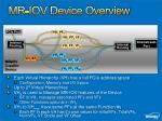 mr iov device overview