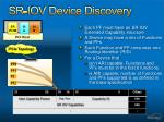 sr iov device discovery