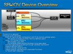 sr iov device overview