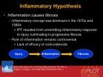 inflammatory hypothesis