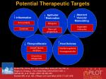 potential therapeutic targets