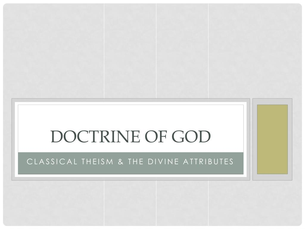 doctrine of god l.