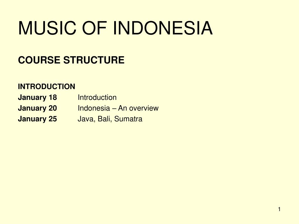 music of indonesia l.