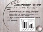 aspen mountain research