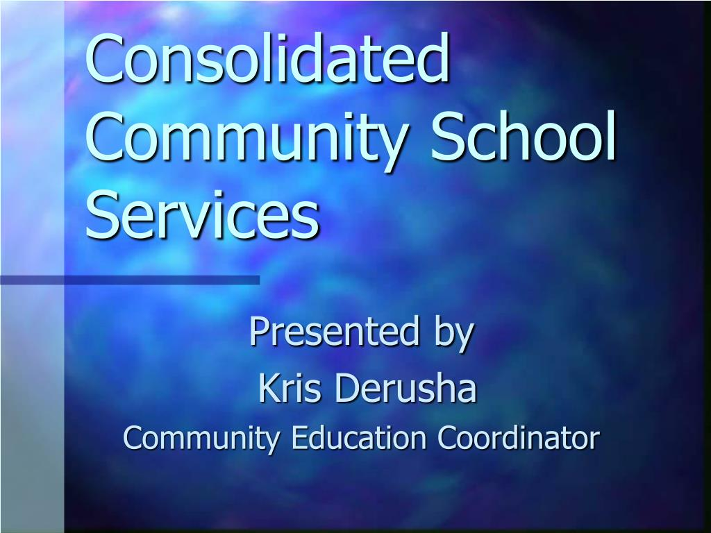 consolidated community school services l.