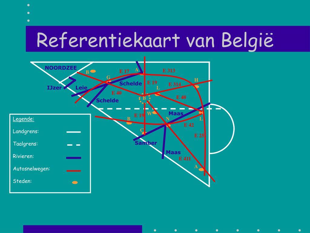 referentiekaart van belgi l.