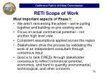 reti scope of work