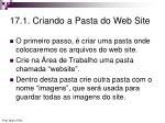 17 1 criando a pasta do web site