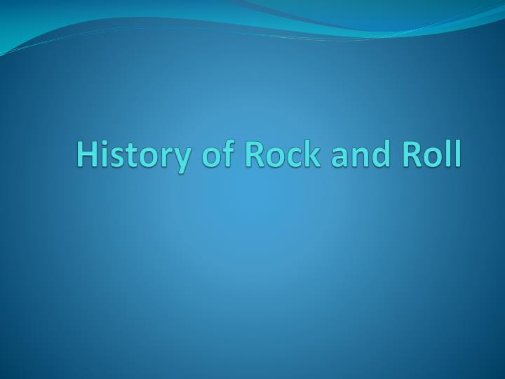 history of rock and roll n.