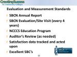 evaluation and measurement standards