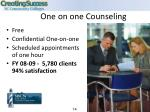 one on one counseling