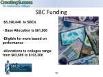 sbc funding