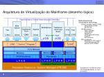 arquitetura de virtualiza o do mainframe desenho l gico
